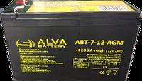 Аккумуляторные батареи, ALVA battery АВТ-7-12-AGM