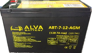 Аккумуляторные батареи, ALVA battery АВТ-7,5-12-AGM