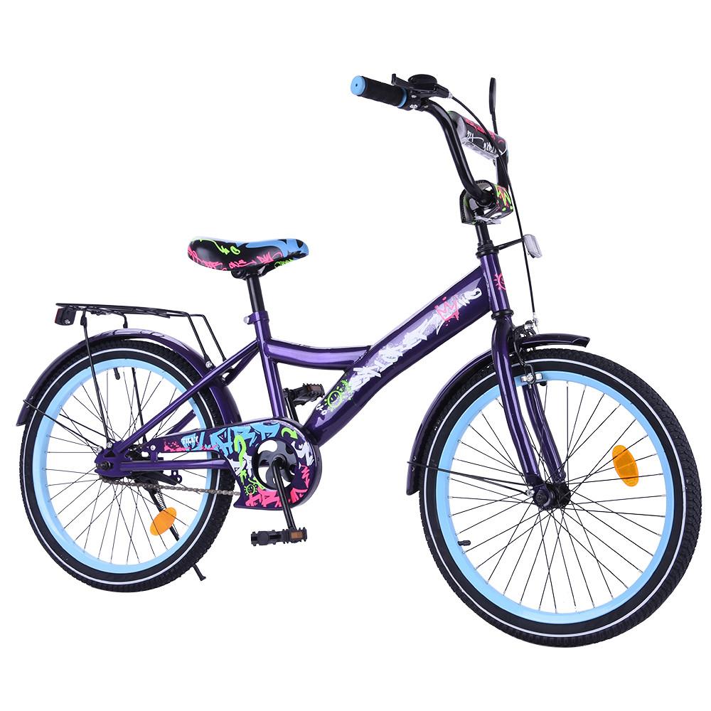 Велосипед детский двухколесный EXPLORER 20 дюймов T-220115 black_blue темно-синий