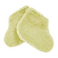 Носочки многразовые для парафинотерапии Doily, 1 пара, искусственный мех, кремовые