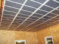 Монтаж системы теплый потолок