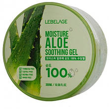 Универсальный увлажняющий гель с экстрактом алоэ LEBELAGE Moisture Aloe Purity 100% Soothing Gel, 300 мл