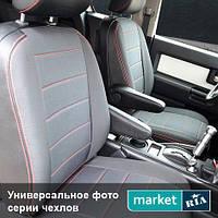 Чехлы на сиденья ВАЗ 2111 1997-2009 из Экокожи и Автоткани (Союз АВТО), полный комплект (5 мест)