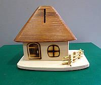 Копилка деревянная Дом