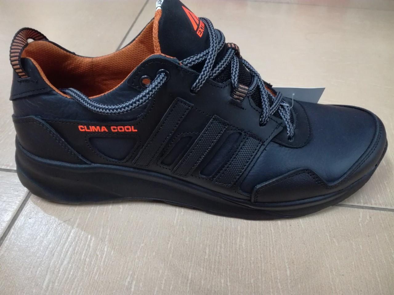 Чёрные мужские кроссовки , натуральная кожа ТМ EXTREM.