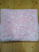 Детский плед одеяло флисовый, розового цвета