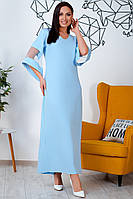 Шикарное платье для полных Лыбедь голубое, фото 1