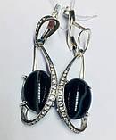 Серебряные серьги с агатом Филадельфия, фото 2
