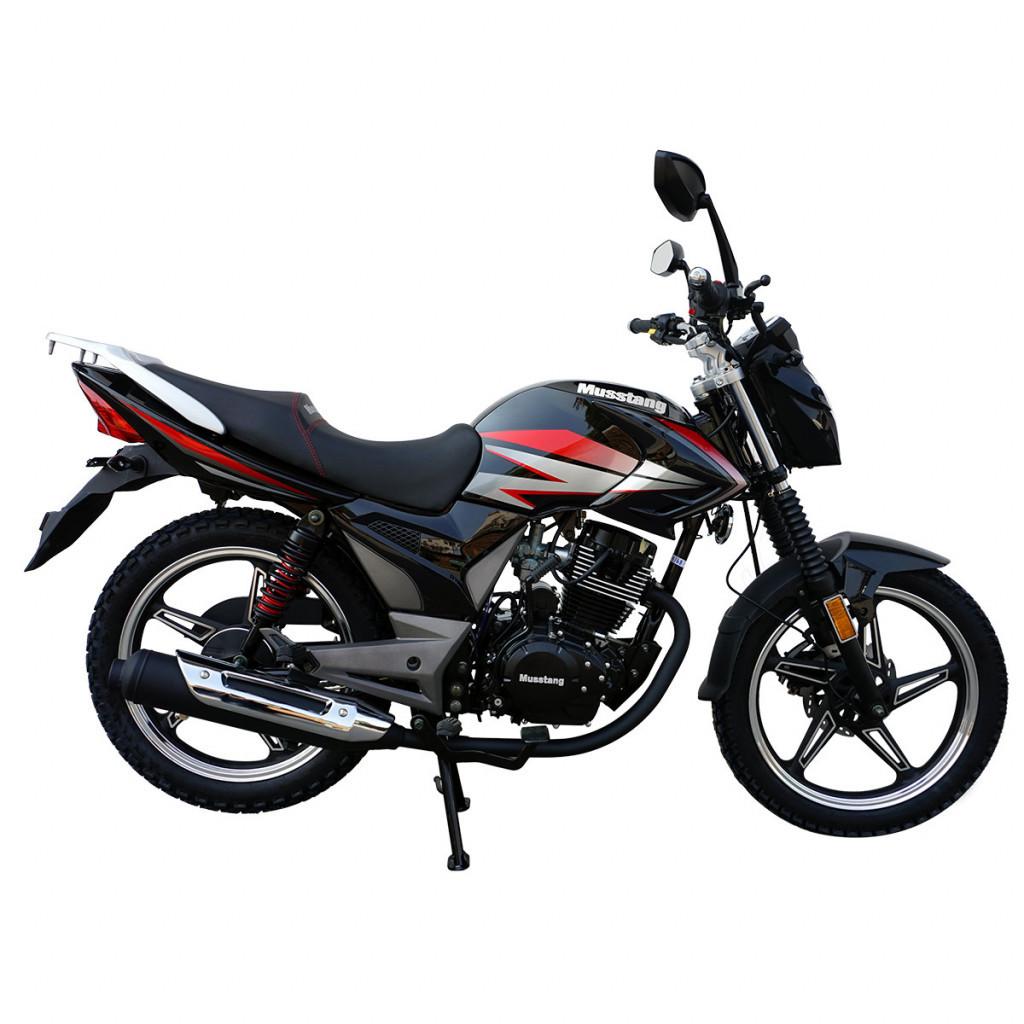 Дорожный мотоцикл Musstang Region MT200-8 Черный