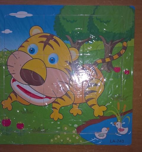 Деревянный пазл на 18 эл. Тигр
