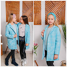Пальто-пиджак детское демисезонное для девочки Шарлотта|  размеры на рост 122, 128, 134, 140р., фото 2