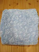 Детский плед одеяло флисовый, голубого цвета