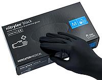 Перчатки нитриловые неопудренные М, Nitrylex black, черный, 100 шт/уп