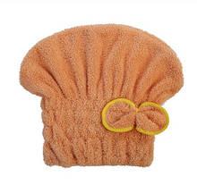 Тюрбан для волос коричневый из микроволокна - размер универсальный (подходит для детей и взрослых)