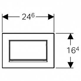 Кнопка Geberit Sigma 30, черная/хром, фото 2