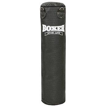 Мешок боксерский Цилиндр Кирза h-140см BOXER Классик (наполнитель-ветошь х-б, d-33см, вес-36кг, черный)