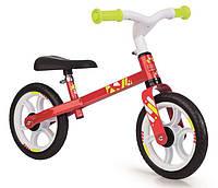 Детский металлический беговел First Bike Red Smoby 770204 красный