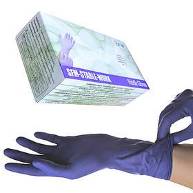 Перчатки нитриловые SFM текстурированные без пудры 100шт M