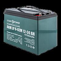 Аккумулятор тяговый свинцево-кислотный AGM LogicPower LP 6-DZM-50