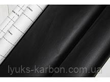 Кожзам самоклеющийся черный ширина 140 см