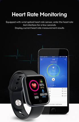 Смарт часы браслет D20 фитнес трекер черные, фото 2