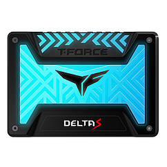 "Накопитель SSD  250GB Team T-Force Delta S RGB 2.5"" SATAIII 3D NAND TLC Black (T253TR250G3C312)"