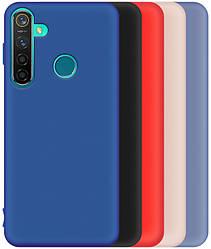 Silicone case Realme 5 (с микрофиброй) (Реалми 5)