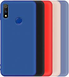 Silicone case Realme 3 Pro (с микрофиброй) (Реалми 3 Про)