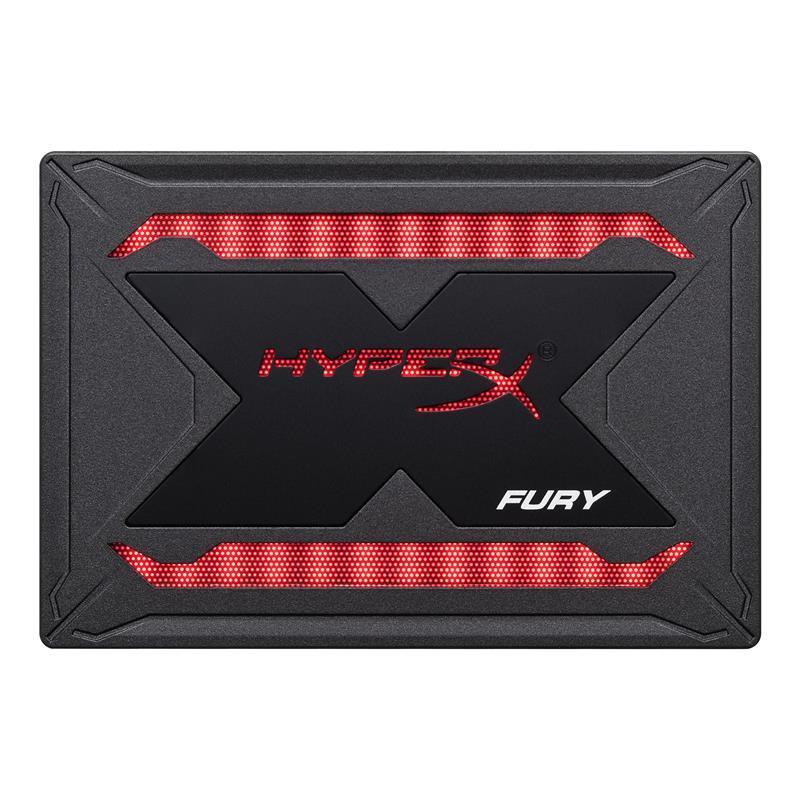 """Накопитель SSD  240GB Kingston HyperX Fury RGB 2.5"""" SATAIII 3D TLC (SHFR200/240G)"""