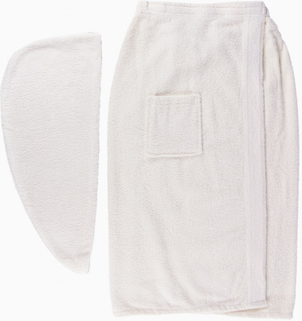 Набор полотенец для сауны Arya Sante махровый женский 2 предмета экрю арт.TR1003688
