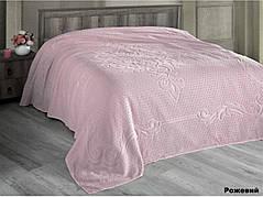 Простынь Arya Foli полуторная 160*220 см махровая розовая арт.TR1003903