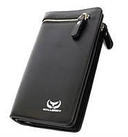 Кошелек 618 Черный Wallerry | Мужской кошелек-портмоне