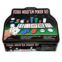 Техасский холдем, набор для покера на 200 фишек, фото 1