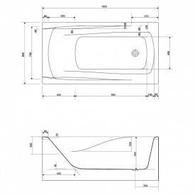 Акриловая ванна Cersanit Zen 160x85 (S301-127), фото 2