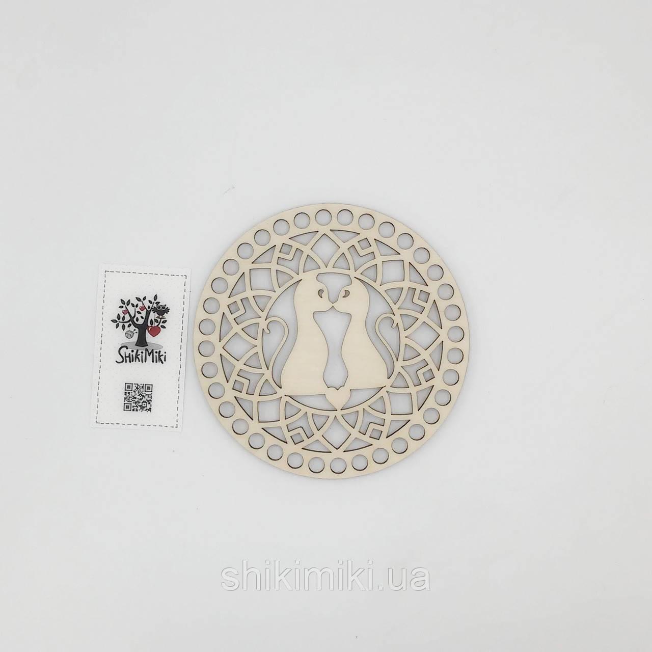 Заготовка из фанеры ажурная круглая -03 (15 см)