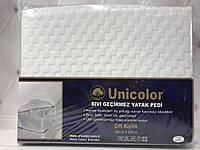 Наматрасник водонепроницаемый на резинках по углам  100 на 200 Unicolor
