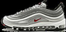Женские кроссовки Nike Air Max 97 серые с серебром