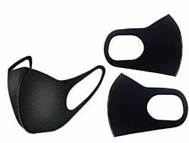 Маска защитная для органов дыхания носа и рта многоразовая, питта-маска цвет темно синий