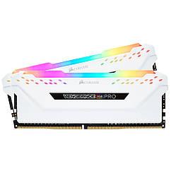 Модуль памяти DDR4 2x8GB/3000 Corsair Vengeance RGB Pro White (CMW16GX4M2C3000C15W)