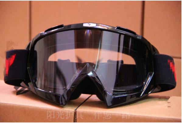 Маска прозрачные мото очки с паралоном под кроссовый шлем
