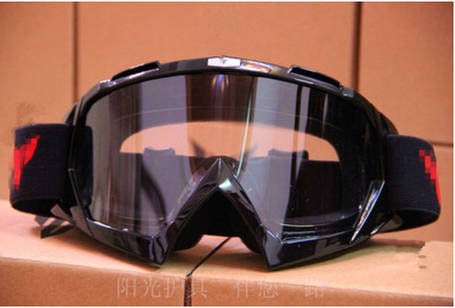 Маска прозрачные мото очки с паралоном под кроссовый шлем, фото 2
