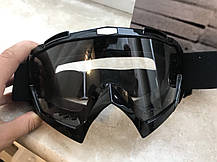 Маска прозрачные мото очки с паралоном под кроссовый шлем, фото 3