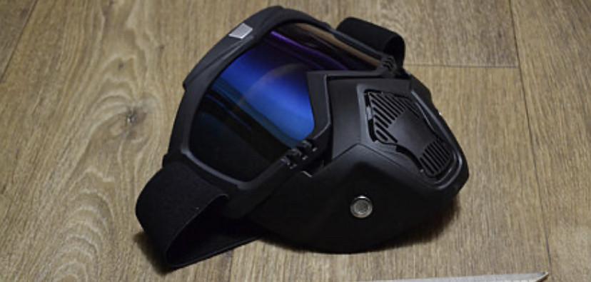Маска защитная под шлем кроссовый полулицевик Кастором пейнтбол тактическая маска