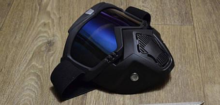 Маска защитная под шлем кроссовый полулицевик Кастором пейнтбол тактическая маска, фото 2