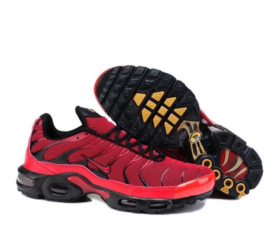 Мужские кроссовки в стиле Air Max 95 Tn Plus красные с черным