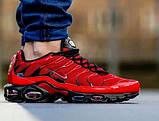 Мужские кроссовки в стиле Air Max 95 Tn Plus красные с черным, фото 3