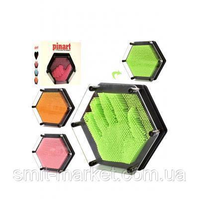Гвозди ART-PIN цветные шестиугольник