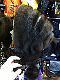 Женская норковая косынка цвет шоколад, фото 3