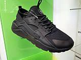 Мужские кроссовки в стиле  Huarache Black черные , размеры с 41 по 46, фото 2