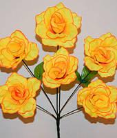 Букет искусственных Роз раскрытая